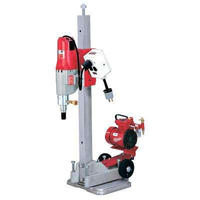 Diamond Coring Rig with Small Base Stand, Vac-U-Rig Kit, Meter Box and Diamond Coring Motor