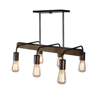 6-Light Brunito Bronze Billiard Light