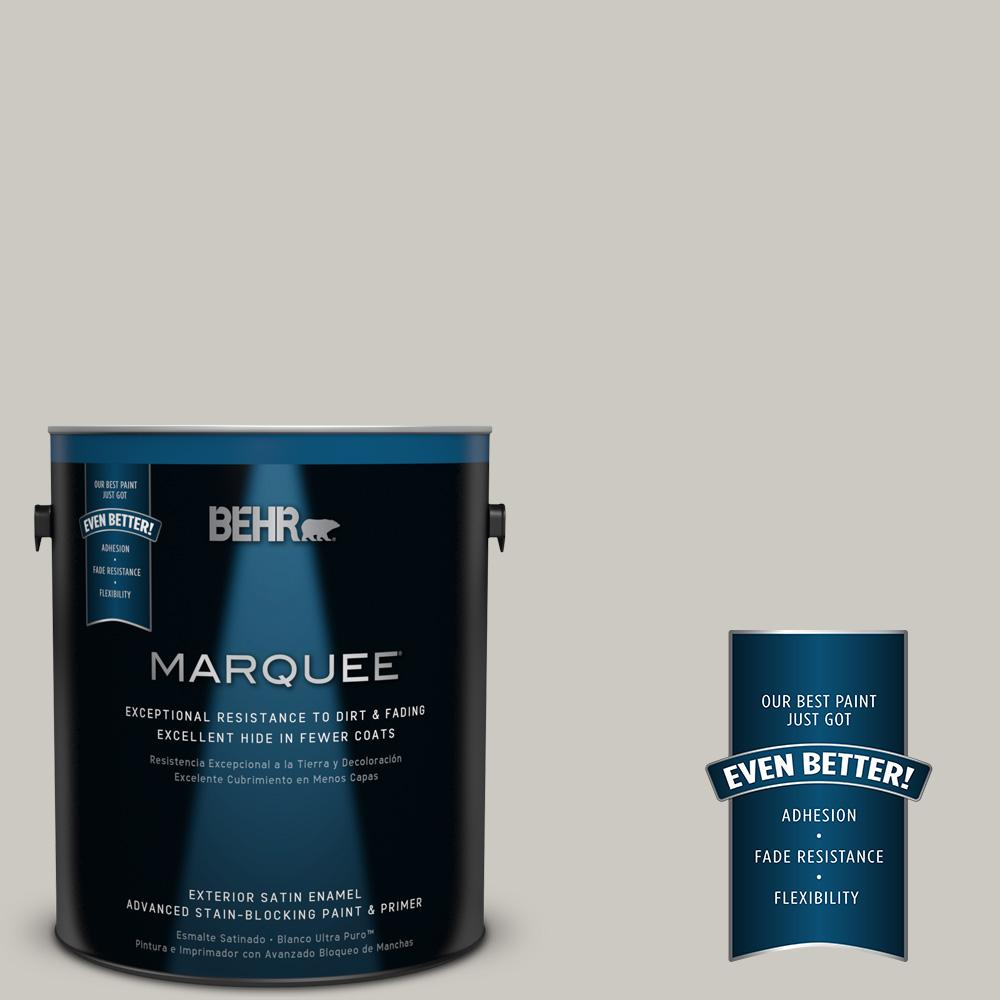 1 gal. #HDC-WR14-2 Winter Haze Satin Enamel Exterior Paint