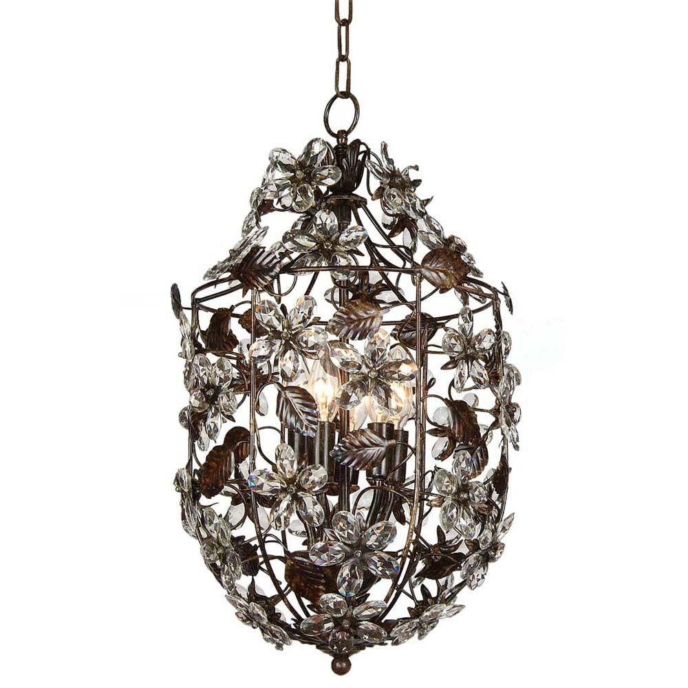 Filament Design Xavier 5-Light Brown Incandescent Ceiling Chandelier