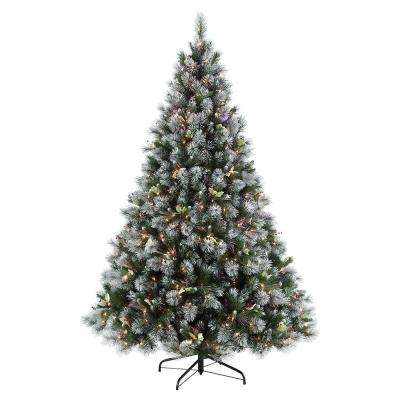 7.5 ft. Pre-Lit Incandescent Fiber Optic Winter Wonderland Artificial Christmas Tree with 500 UL-Listed Clear Lights