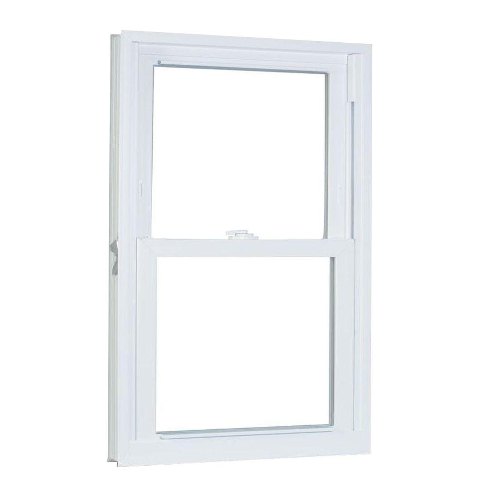 American Craftsman 31.75 in. x 61.25 in. 70 Series Double Hung Buck Vinyl Window - White