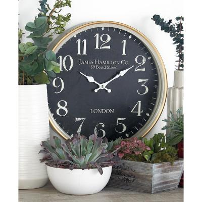 Multi-Colored London-Inspired Wall Clock with White Accents