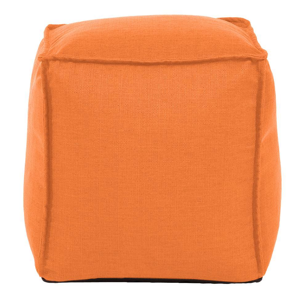 Square Pouf Sterling Canyon Orange Ottoman