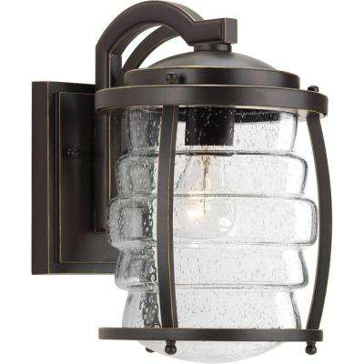 Signal Bay Collection 1-Light Oil Rubbed Bronze Outdoor Wall Mount Lantern