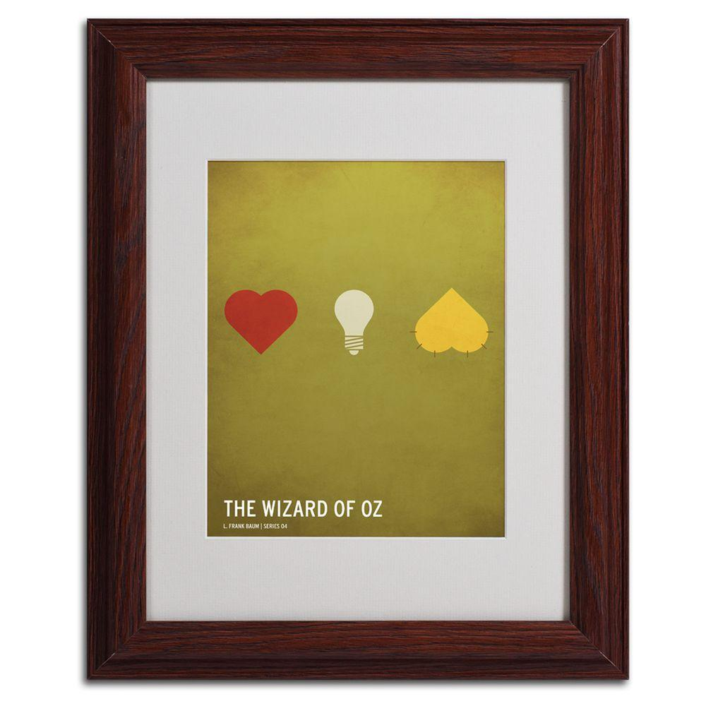 Trademark Fine Art 11 in. x 14 in. Wizard of Oz Matted Framed Art ...