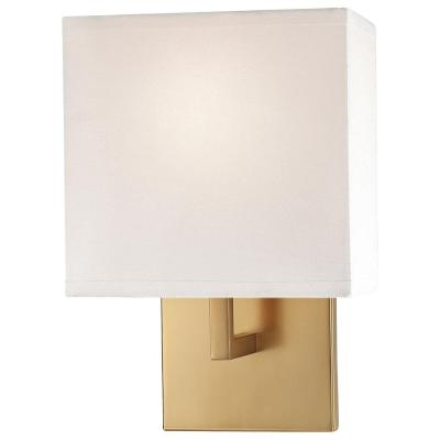 1-Light Honey Gold Wall Sconce