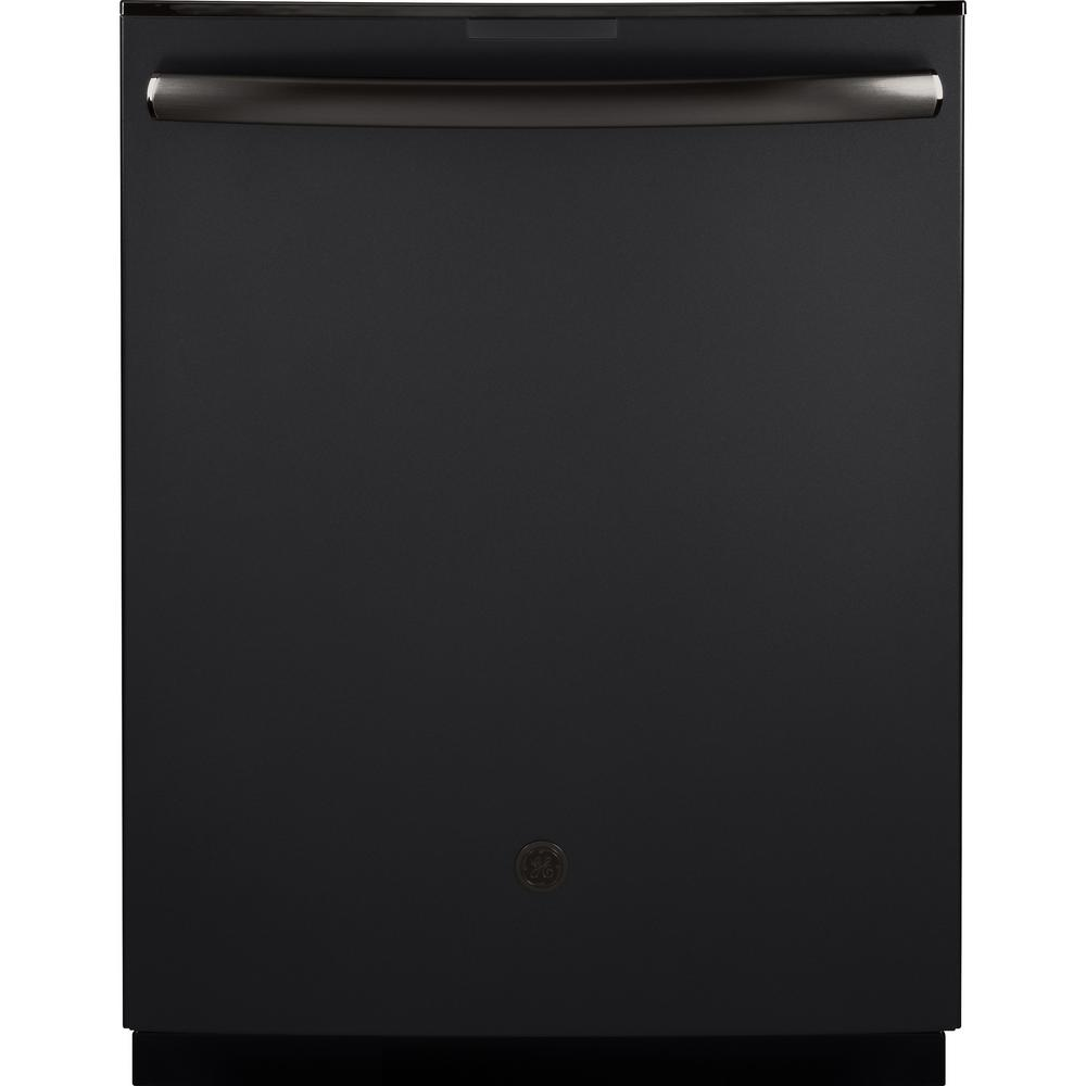 Profile Top Control Dishwasher in Black Slate with Stainless Steel Tub,