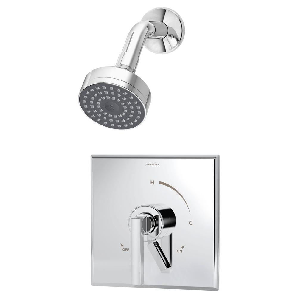 Duro Single-Handle 1-Spray Shower Faucet in Chrome (Valve Included)
