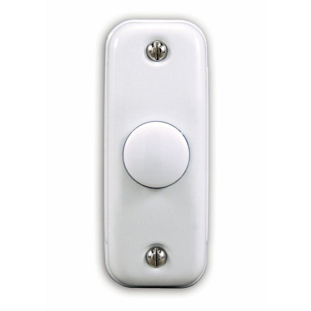 Heath Zenith Wired Unlighted Push Button