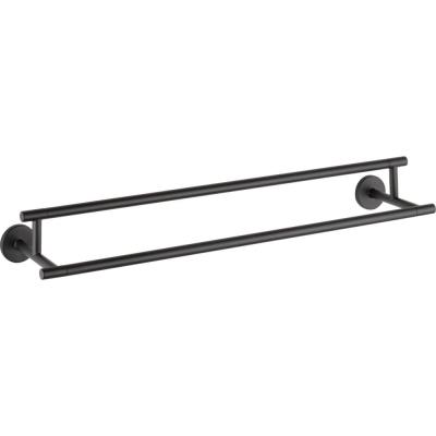 Trinsic 24 in. Double Towel Bar in Matte Black