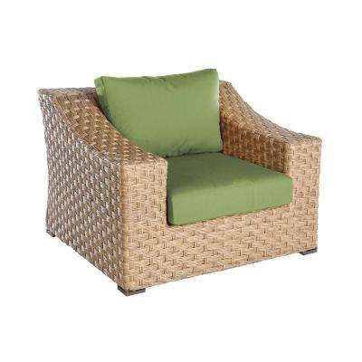 Elizabeth 1-Piece Wicker Patio Seating Set with Spectrum-Cilantro Cushions