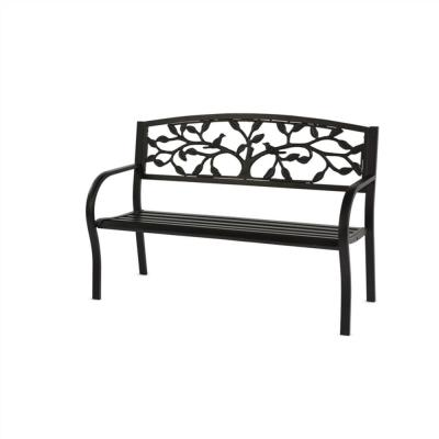 Metal Outdoor Benches Patio Chairs The Home Depot