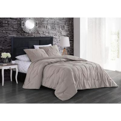 Flynn 7-Piece Taupe Queen Bed in a Bag