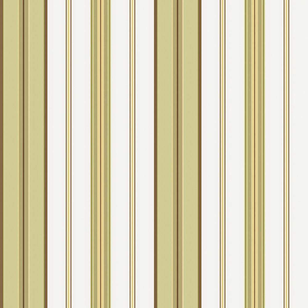 The Wallpaper Company 8 in. x 10 in. Green and White Barcode Stripe Wallpaper Sample
