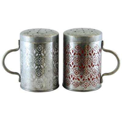 Hollydale Powder Coated Steel Salt and Pepper Shaker Set