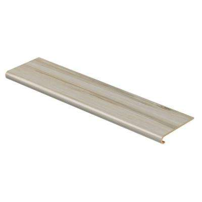 White Maple 94 in. Long x 12-1/8 in. Deep x 1-11/16 in. Height Vinyl to Cover Stairs 1 in. Thick