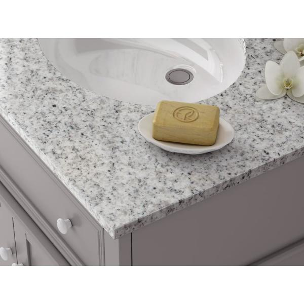 Home Decorators Collection - Fremont 72 in. W Grey Double Bath Vanity with Grey Granite Vanity Top and Undermount Sinks