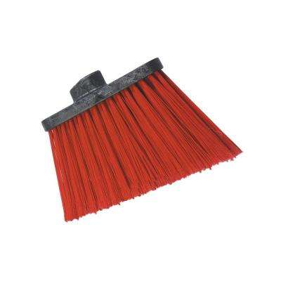 8 in. Heavy-Duty Angle Broom with 12 in. Flare Red Bristles (Handle Not Included) (Case of 12)