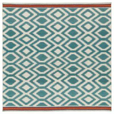 nomad turquoise 8 ft x 8 ft square area rug