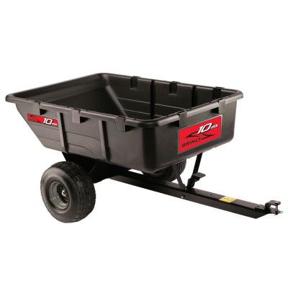 10 cu. ft. 650 lb. Tow-Behind Poly Utility Cart