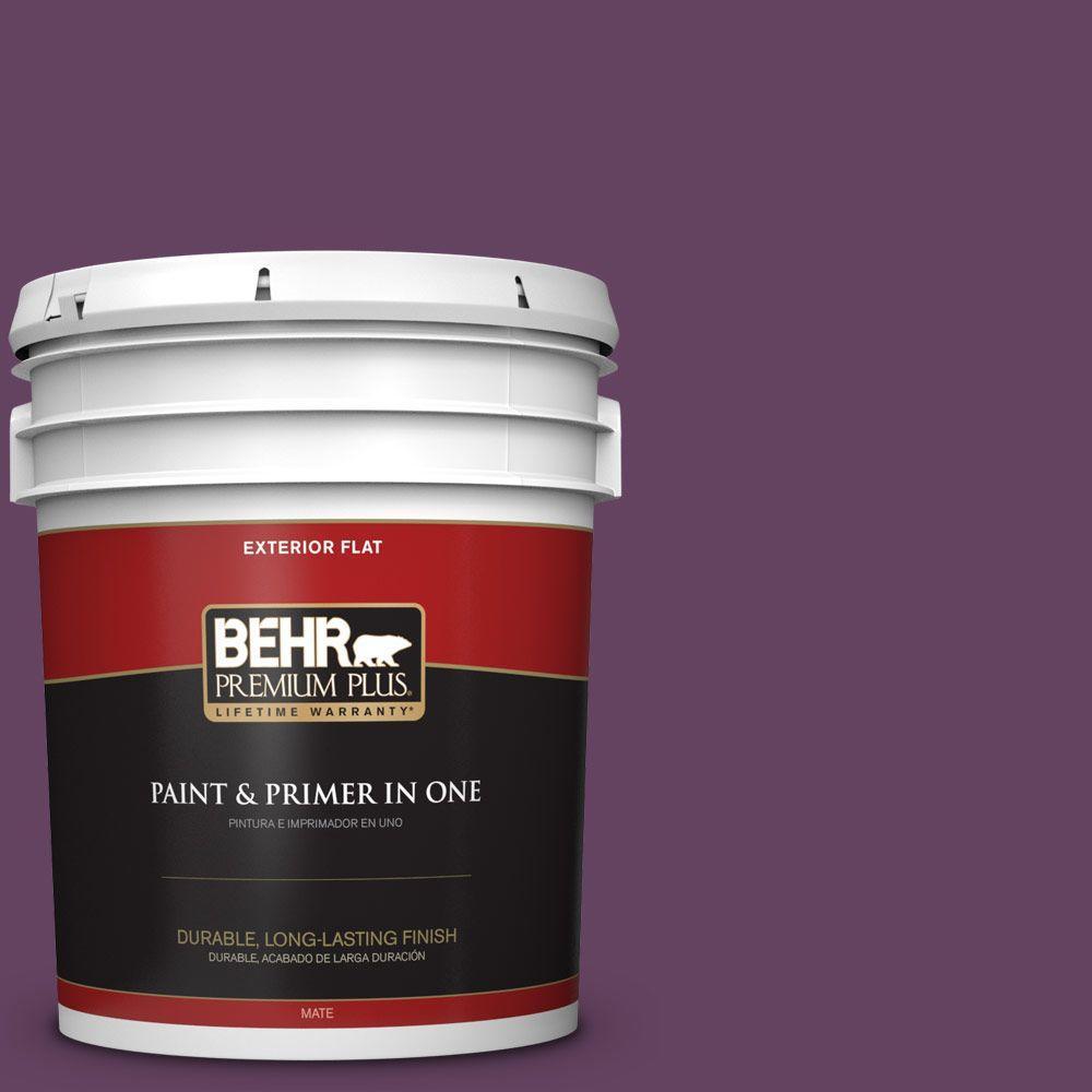 5-gal. #BIC-36 Grape Fizz Flat Exterior Paint