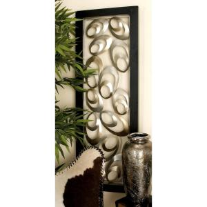 16 inch x 48 inch Modern Gold Iron Flattened Ovals Wall Decor by