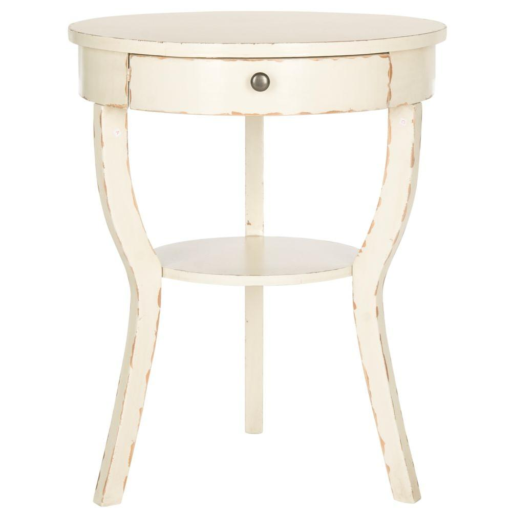 Safavieh Kendra Vintage Cream Storage End Table