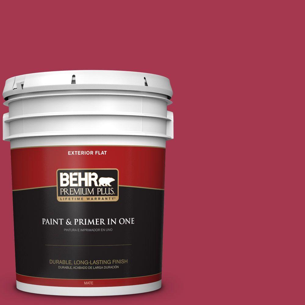 BEHR Premium Plus 5-gal. #S-G-120 Strawberry Daiquiri Flat Exterior Paint