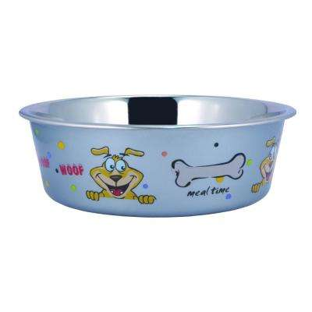 Pets 0.42 Gal. Multi-Print Stainless Steel Dog Bowl (Set of 2)
