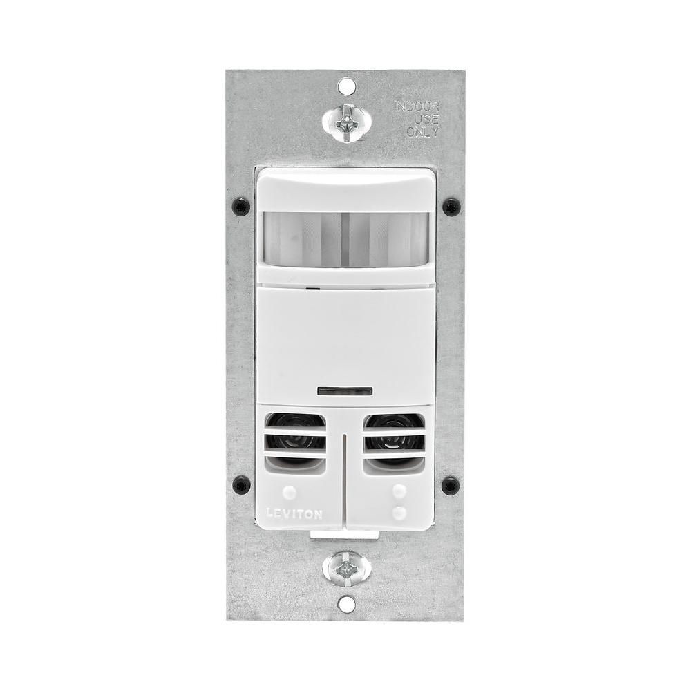 Leviton Decora Dual-Relay Multi-Technology Occupancy Sensor No Neutral, White