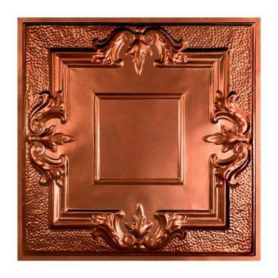 Niagara 2 ft. x 2 ft. Lay-in Tin Ceiling Tile in Vintage Bronze