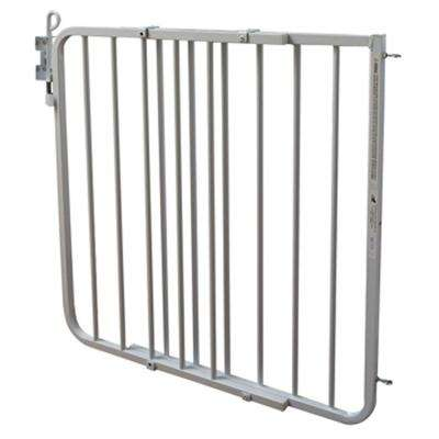 30 in. H x 26 in. to 40 in. W x 2 in. D Auto-Lock Gate in White