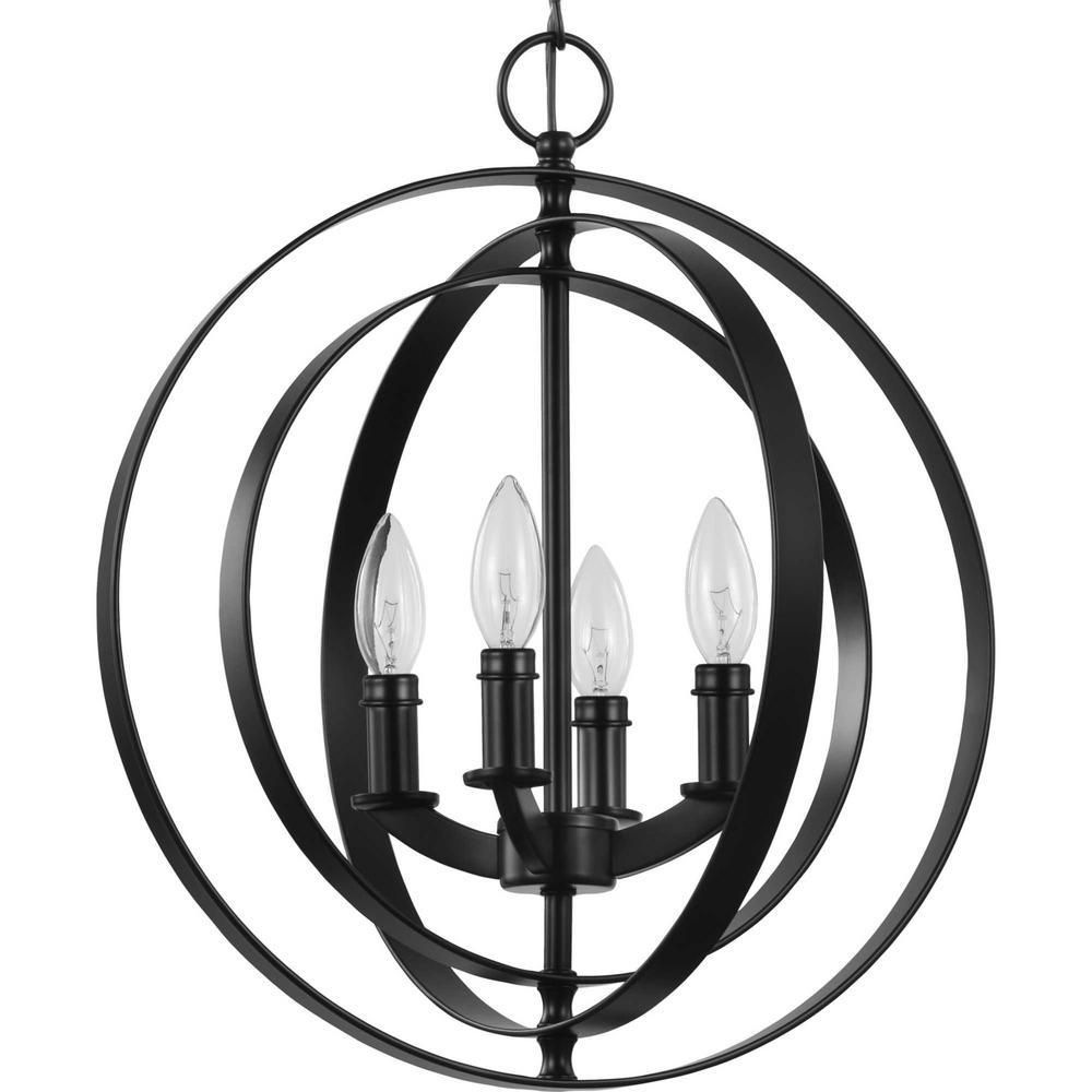 Equinox 4-Light Black Sphere Pendant