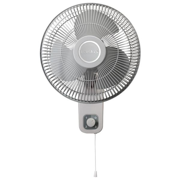 12 in. 3-Speed Oscillating Wall-Mount Fan