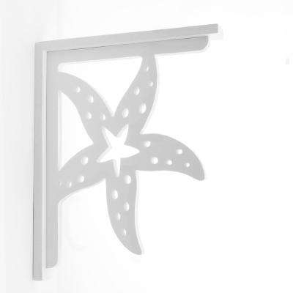 Decorative 9-1/2 in. PVC Starfish Shelf Bracket