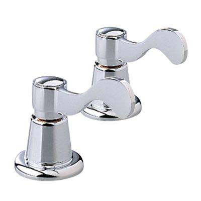 Heritage Wrist Blade 2-Handle Kit for Widespread Faucet in Polished Chrome