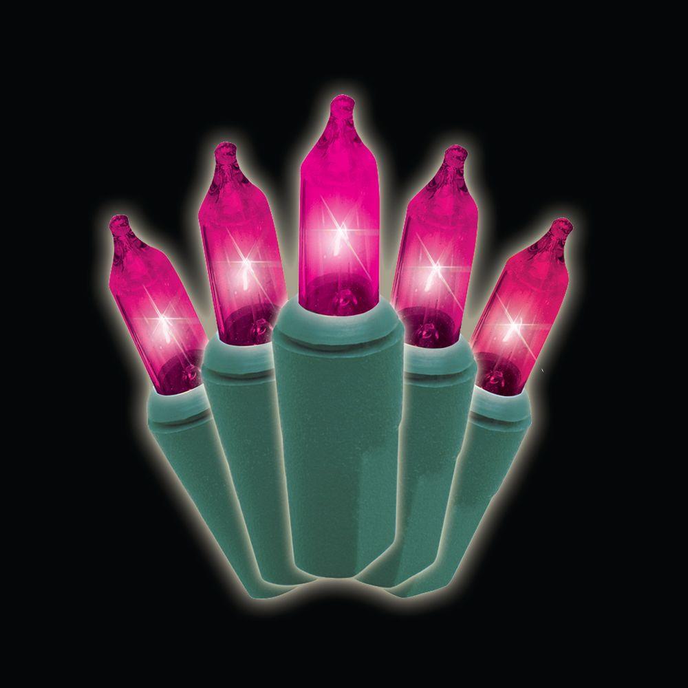 50-Light Pink Strand Lights (Box of 2)