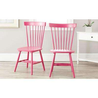 Wondrous Riley Pink Wood Dining Chair Set Of 2 Andrewgaddart Wooden Chair Designs For Living Room Andrewgaddartcom