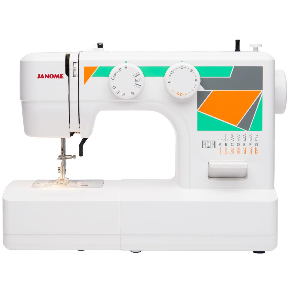 Janome MOD-15 Easy-to-Use Sewing Machine with Top Drop-In...