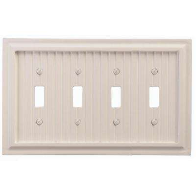 Cottage 4 Toggle Wall Plate - White