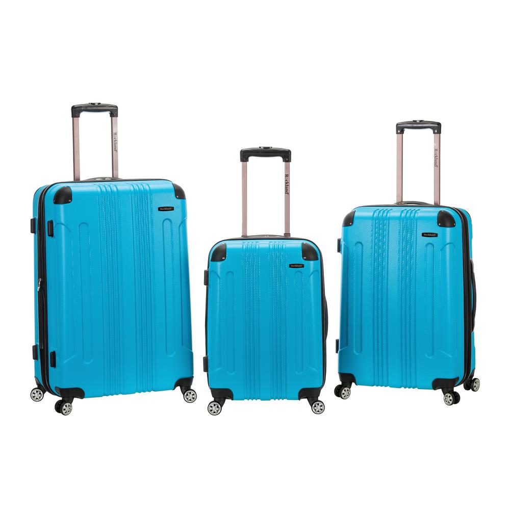Rockland Rockland Sonic 3-Piece Hardside Spinner Luggage Set, Turquoise