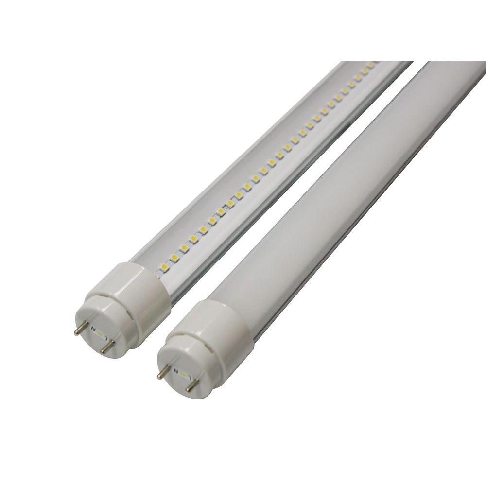 2 ft. T8 9-Watt Soft White G13 Frosted Lens Linear LED Tube Light Bulb