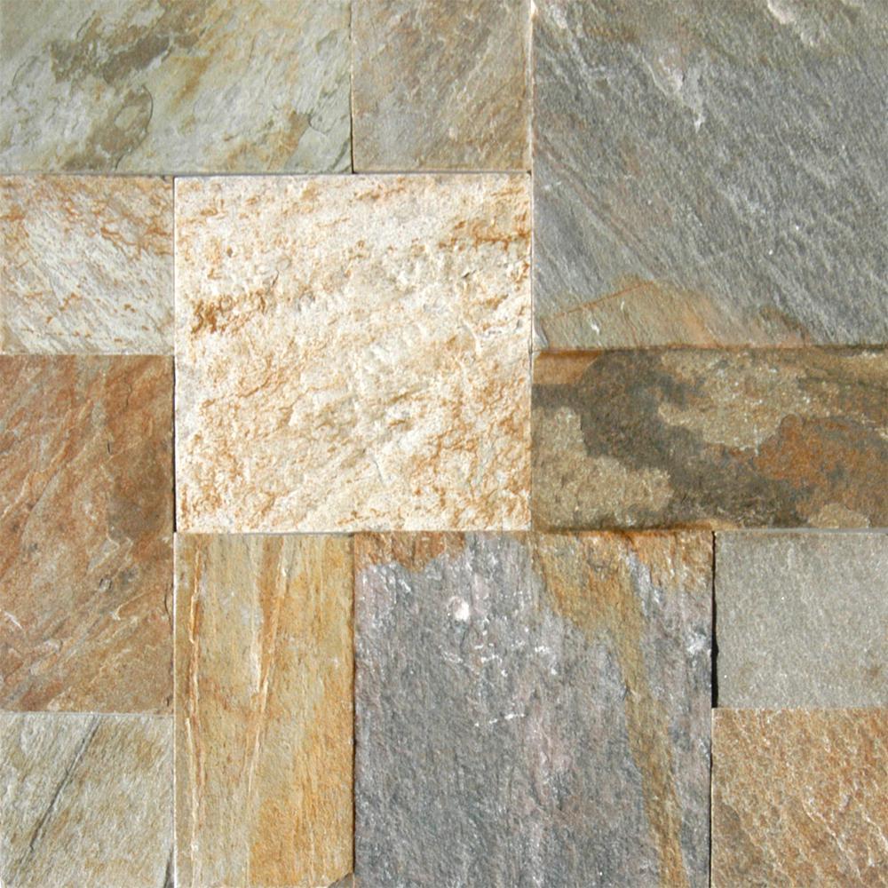 Horizon Pattern Gauged Quartzite Floor and Wall Tile (5 Kits / 80 sq. ft. / pallet)
