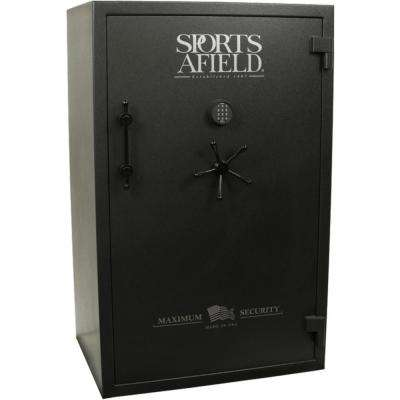 Maximum Security 40-Gun Fire Rated, UL E-Lock Gun Safe, Gun Metal Grey Textured