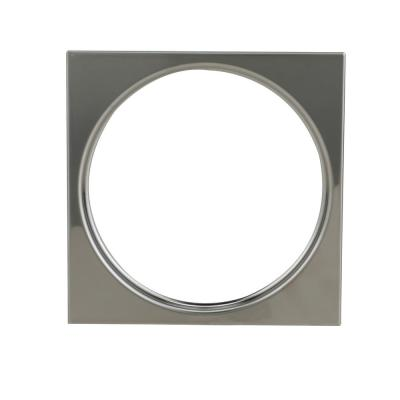 4-1/4 in. Square Snap-In Stainless Steel Shower Drain Cover Ring