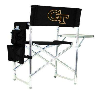 Georgia Tech Black Sports Chair with Embroidered Logo