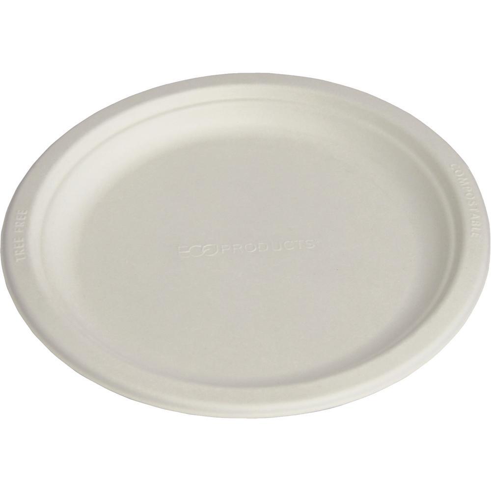 Compole Sugarcane Dinnerware Plate In Natural White