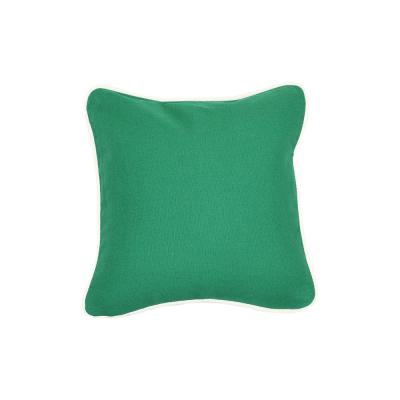 Emerald Solid Cotton 12 in. x 12 in. Throw Pillow