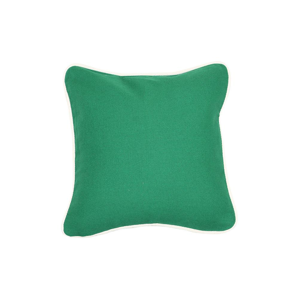 12 in. x 12 in. Emerald Standard Pillow with Green Eco